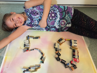 Violet of Port Rowan recycled 50 batteries for the Ontario Schools Battery Recycling Challenge.