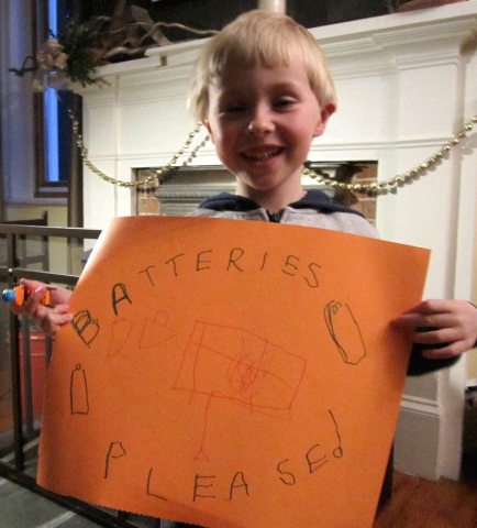 Ben completes Mission 1 in the Ontario Schools Battery Recycling Challenge