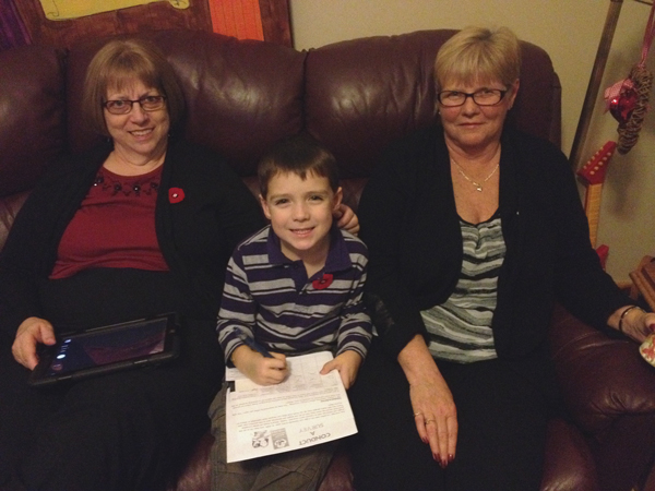 Noah completes Mission 5 in the Ontario Schools Battery Recycling Challenge