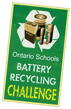 Ontario Schools Battery Recycling logo