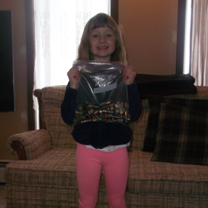 Samantha completed the Student Missions in the Ontario Schools Battery Recycling Challenge